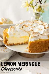 The ultimate no bake lemon cheesecake, this Lemon Meringue Cheesecake has a creamy and silky cheesecake filling inside a biscuit base and is topped with lemon curd and meringue. This is one sure to please your guests.