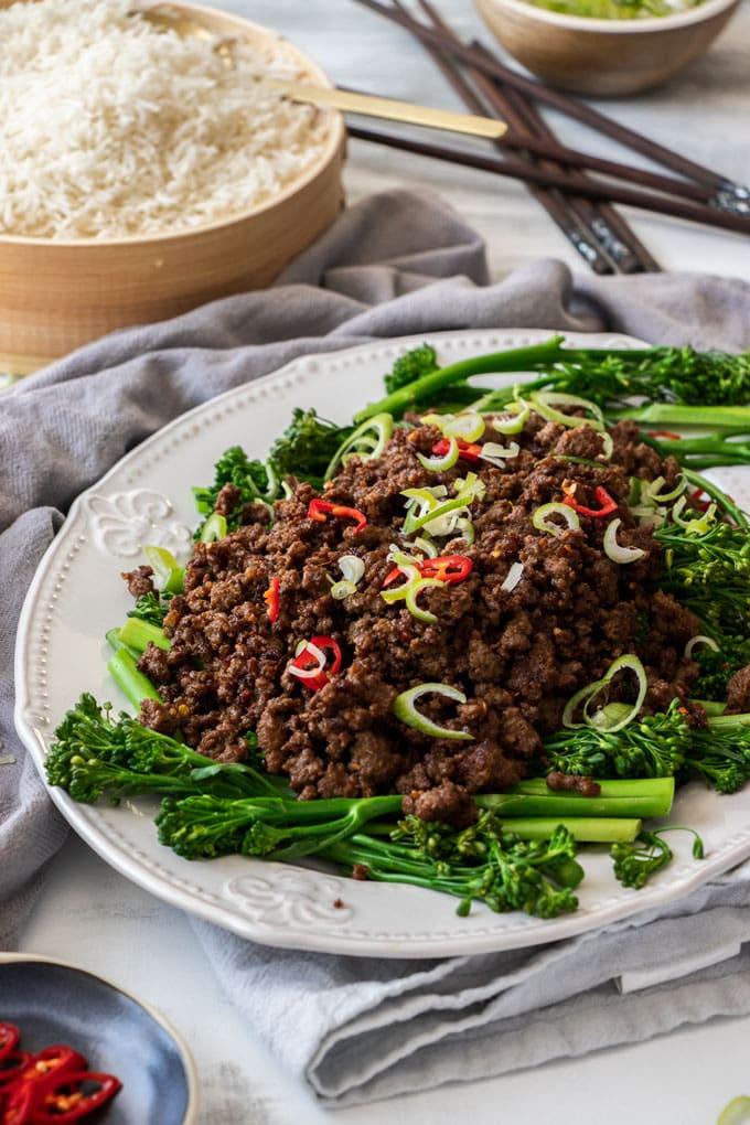 Crispy Asian Chilli Beef Mince