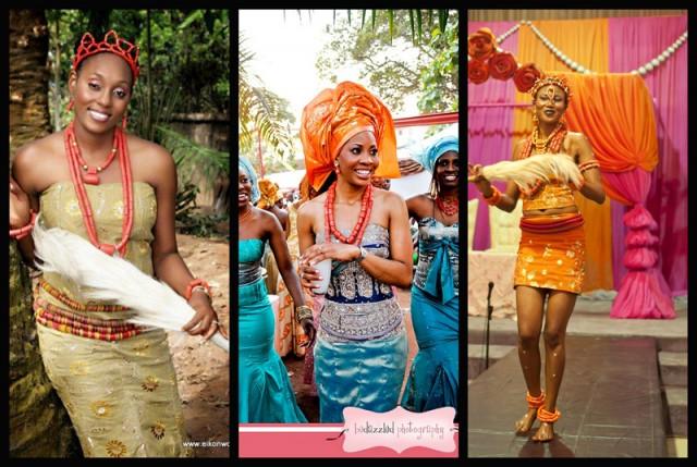 Igbo Wedding Picture 4 Miss Wonderful presents Raffia Palm Wine to Bridegroom.