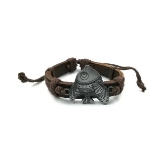 Bruine grote vis armband