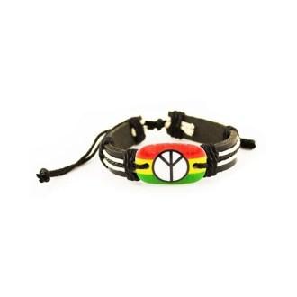 Rasta peace armband