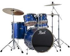 blue drum set