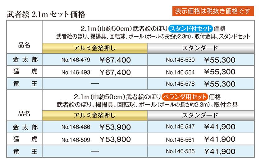 武者絵 2.1m セット価格