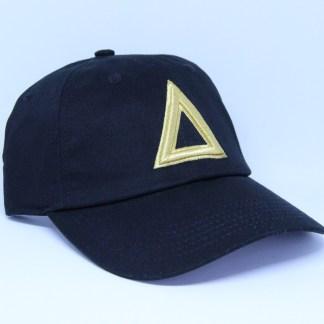 dad-hat-black-gold-triangle. (1)
