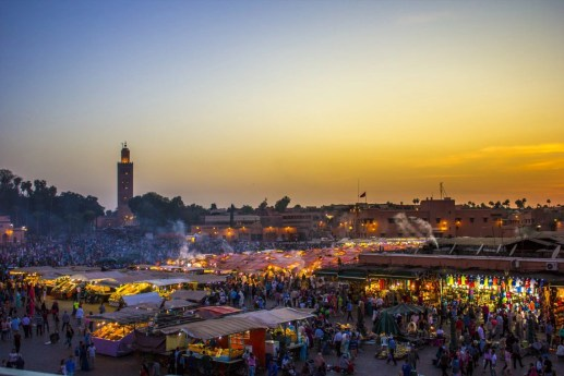 marrakesh sunset from dinner