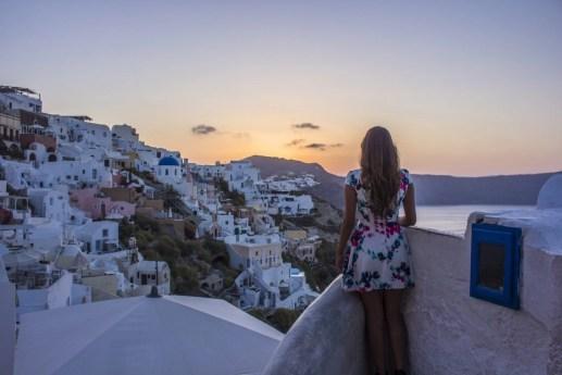 Sunrise over Oia Santorini Greece Travel