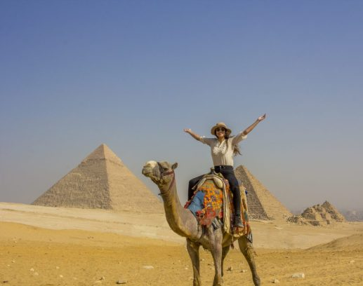 On camel pyramids of giza cairo - Travel Talk Tours Solo female travel egypt