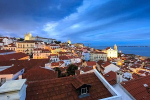 Blue hour in Lisbon
