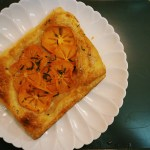 Persimmon Tart with Buttery Puff Pastry & Sage Sugar