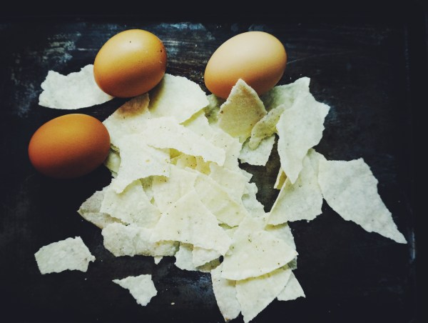 tortillas and eggs for migitas or migas