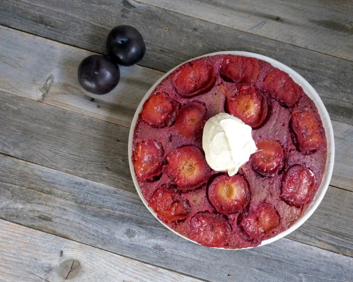 Italian Plum Upside-down Cake | Suitcase Foodist