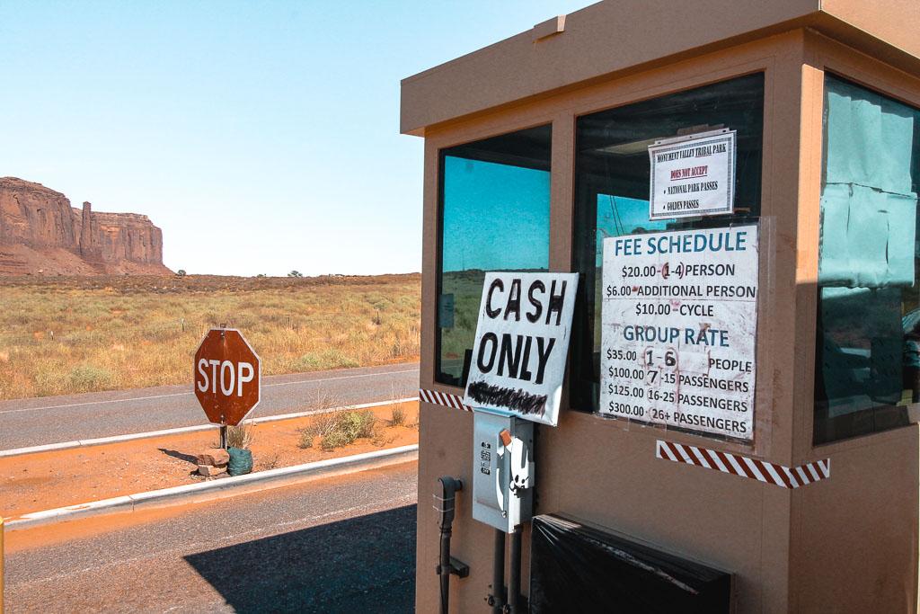 Western Usa national Park entrance