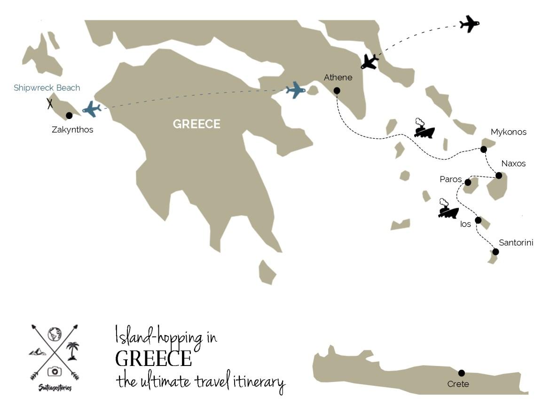 Island hopping greece travel itinerary