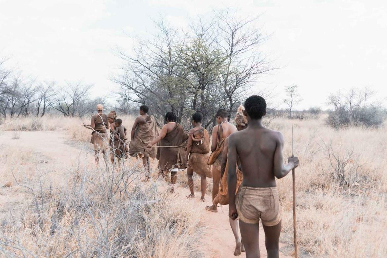 Bushmen walk