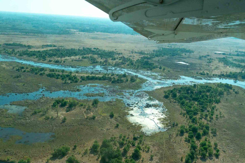 6 unique things to do in Botswana: Okavango delta flight