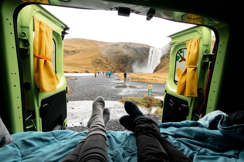 Iceland camper van