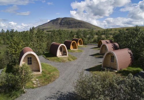 Fossatun camping pods
