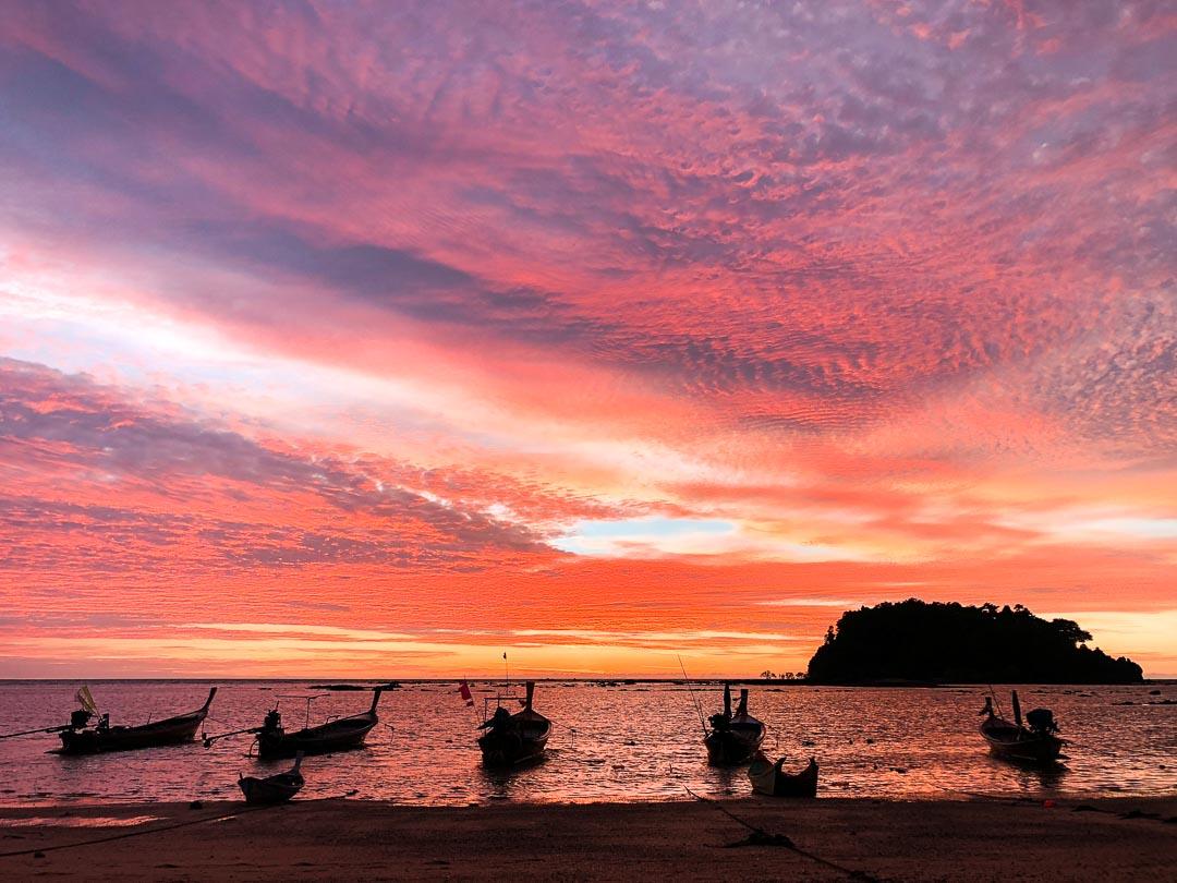 Sunsets at Koh Libong