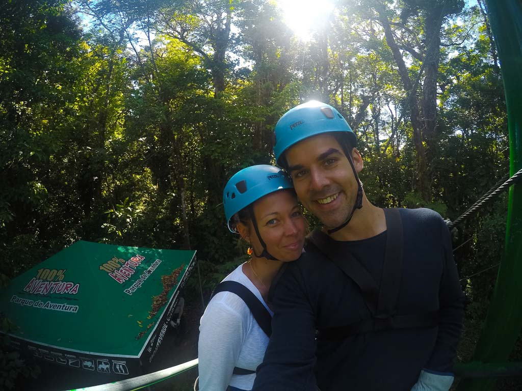 Ziplining in Monteverde cloud forest reserve