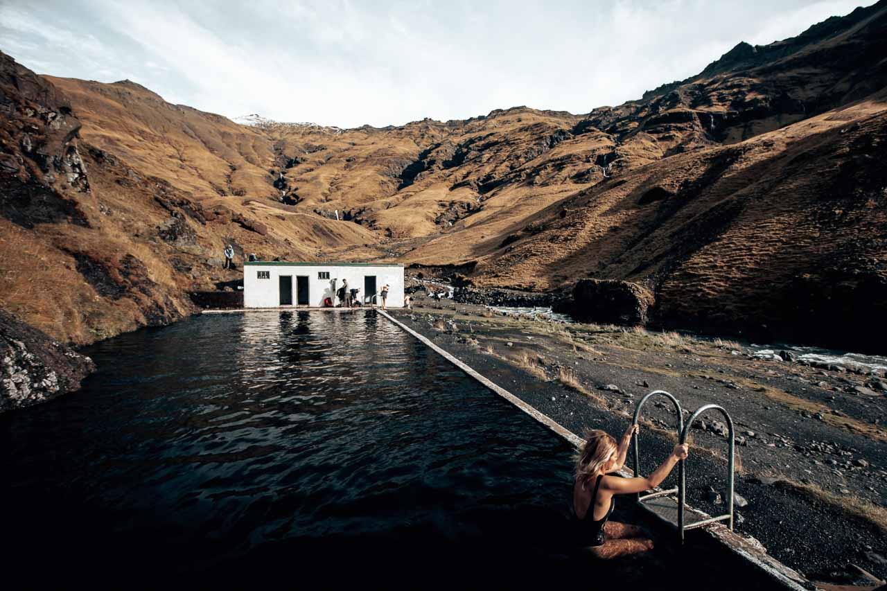Iceland - Seljavallalaug pool