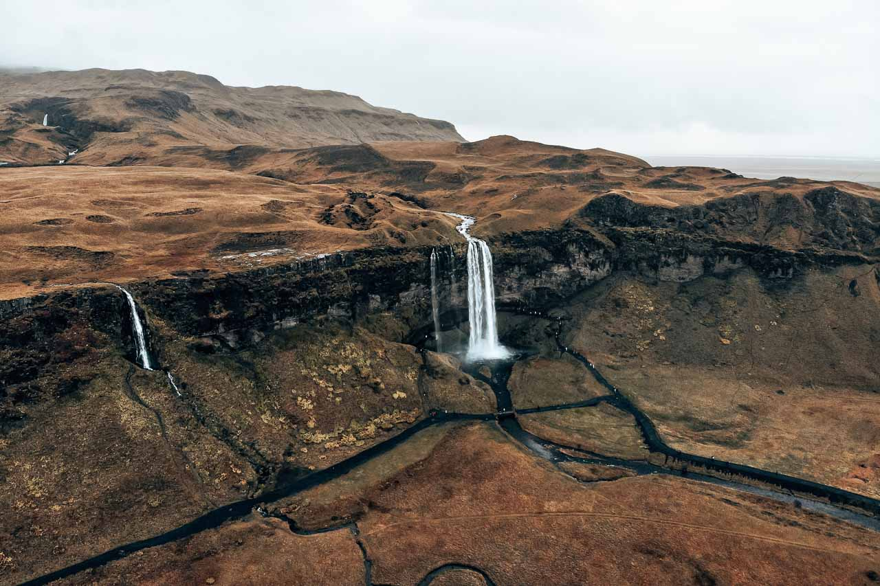 Seljalandsfoss and Gljufrabui waterfalls