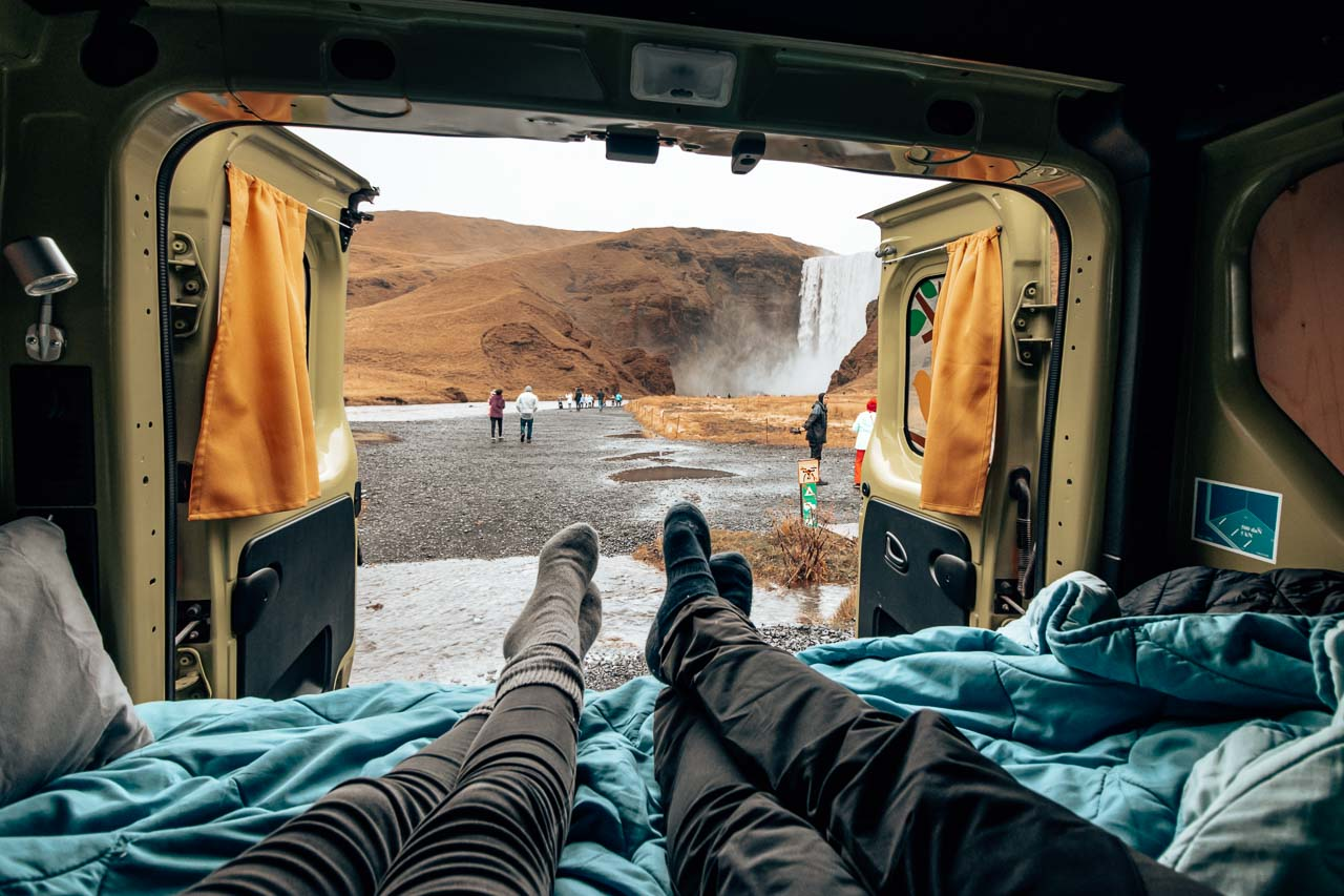 Iceland with a camper van road trip itinerary