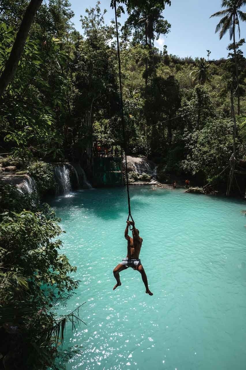 Cambugahay waterfalls swing - Siquijor