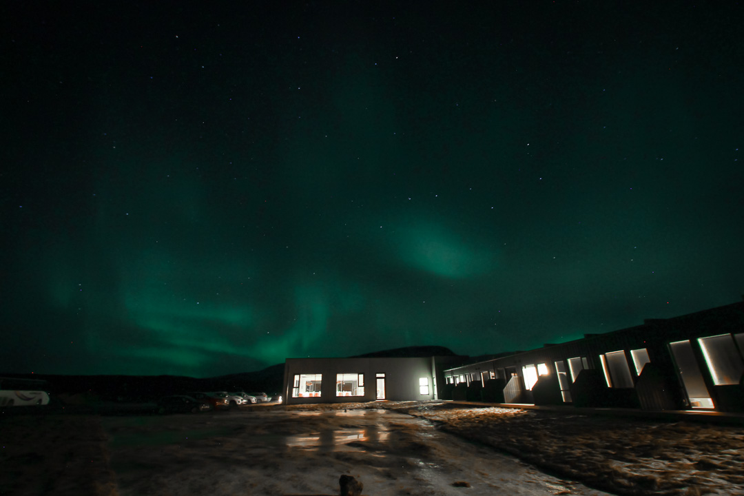 Iceland - Northern Lights at Fosshotel Nupar