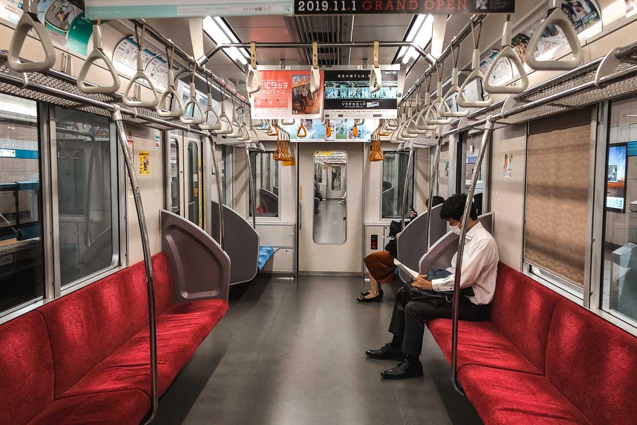 Tokyo taking the subway