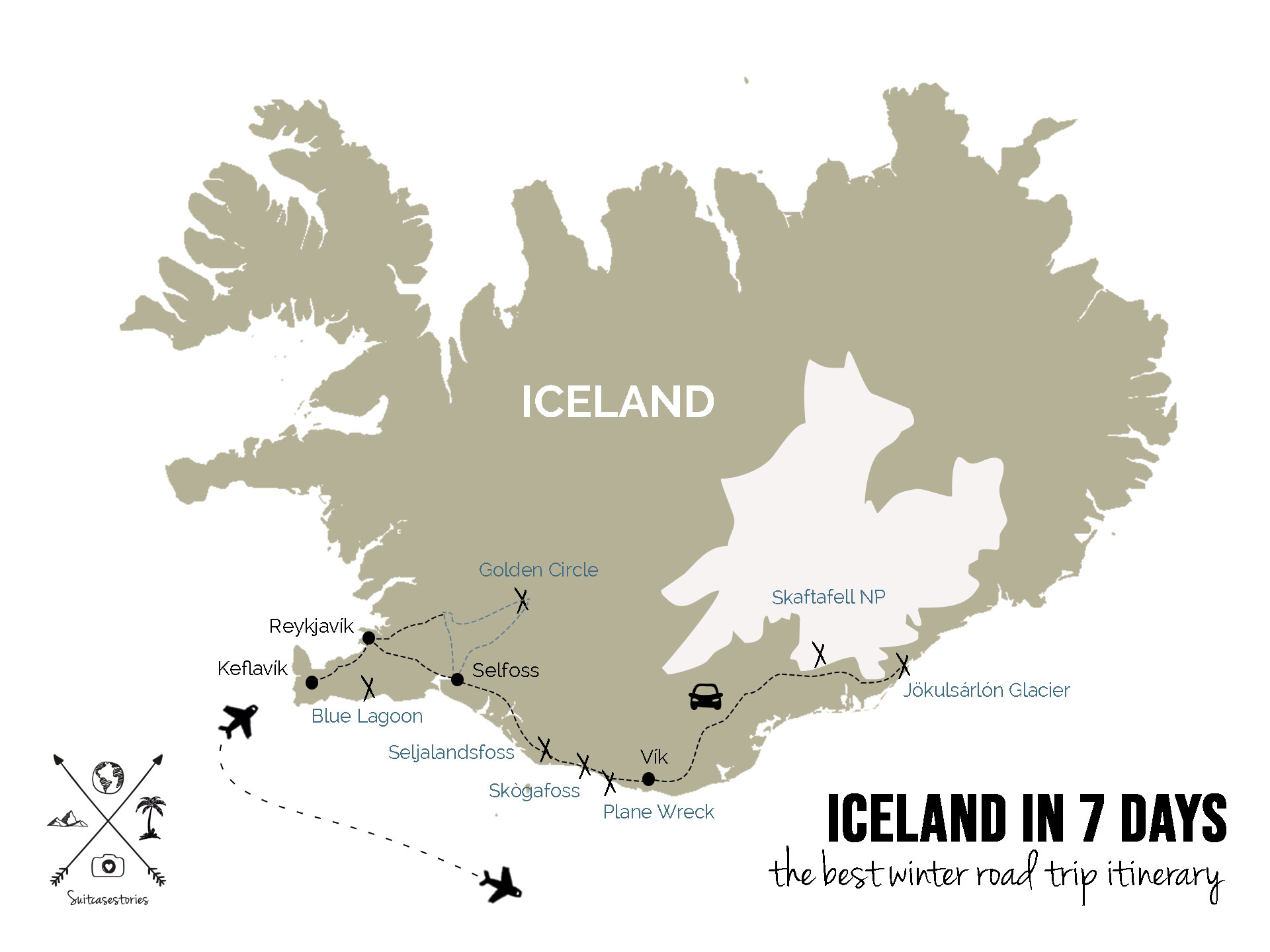 Iceland in 7 days - the best winter road trip itinerary
