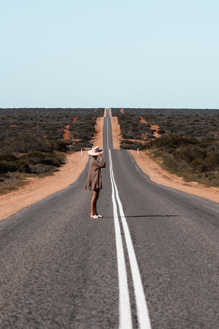 The road to Francois Peron National Park