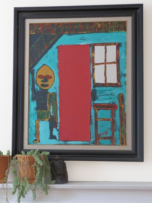 The Red Door painting by Leyton Franklin