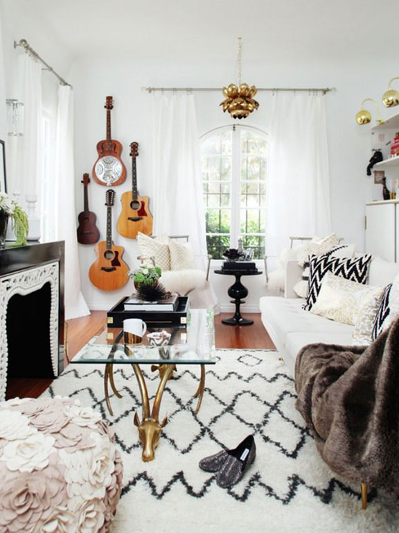 Decorating with guitars