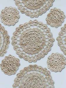 Doilies separated