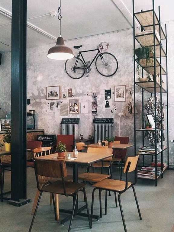 Interior shot of hipster commercial business