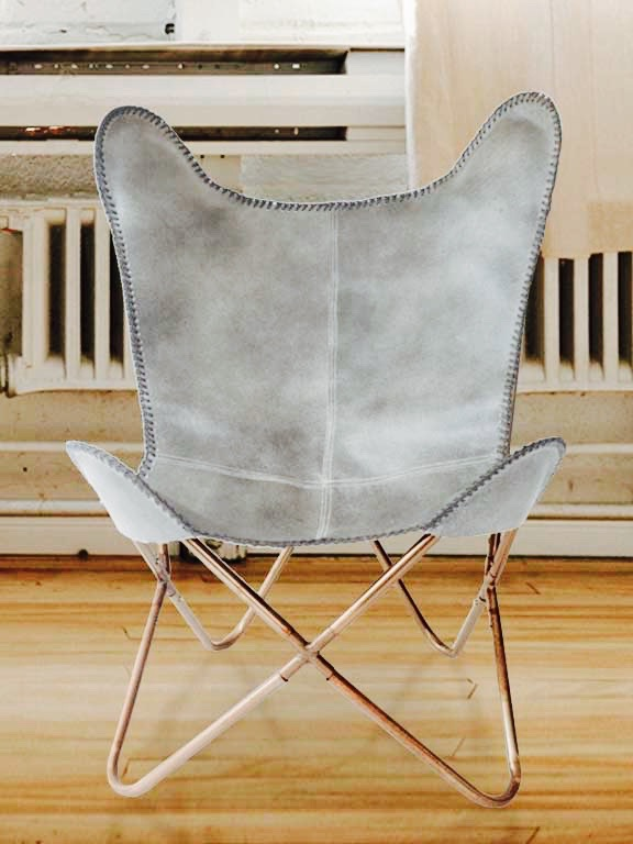 Butterfly chair in Nubuck leather