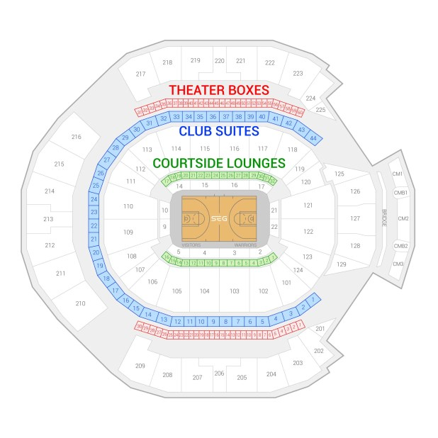 Warriors New Stadium Status: Golden State Theater Seating Chart