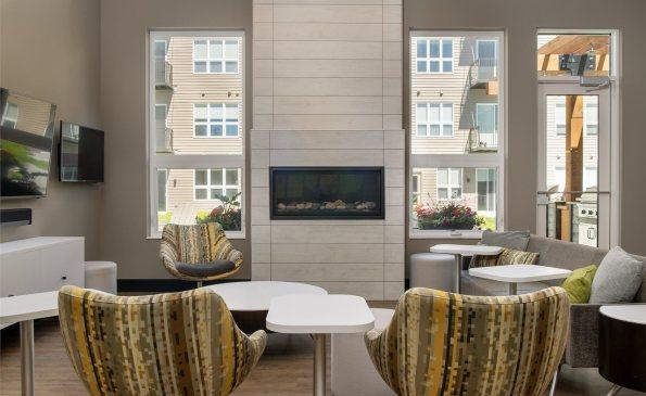 corners Lounge Fireplace