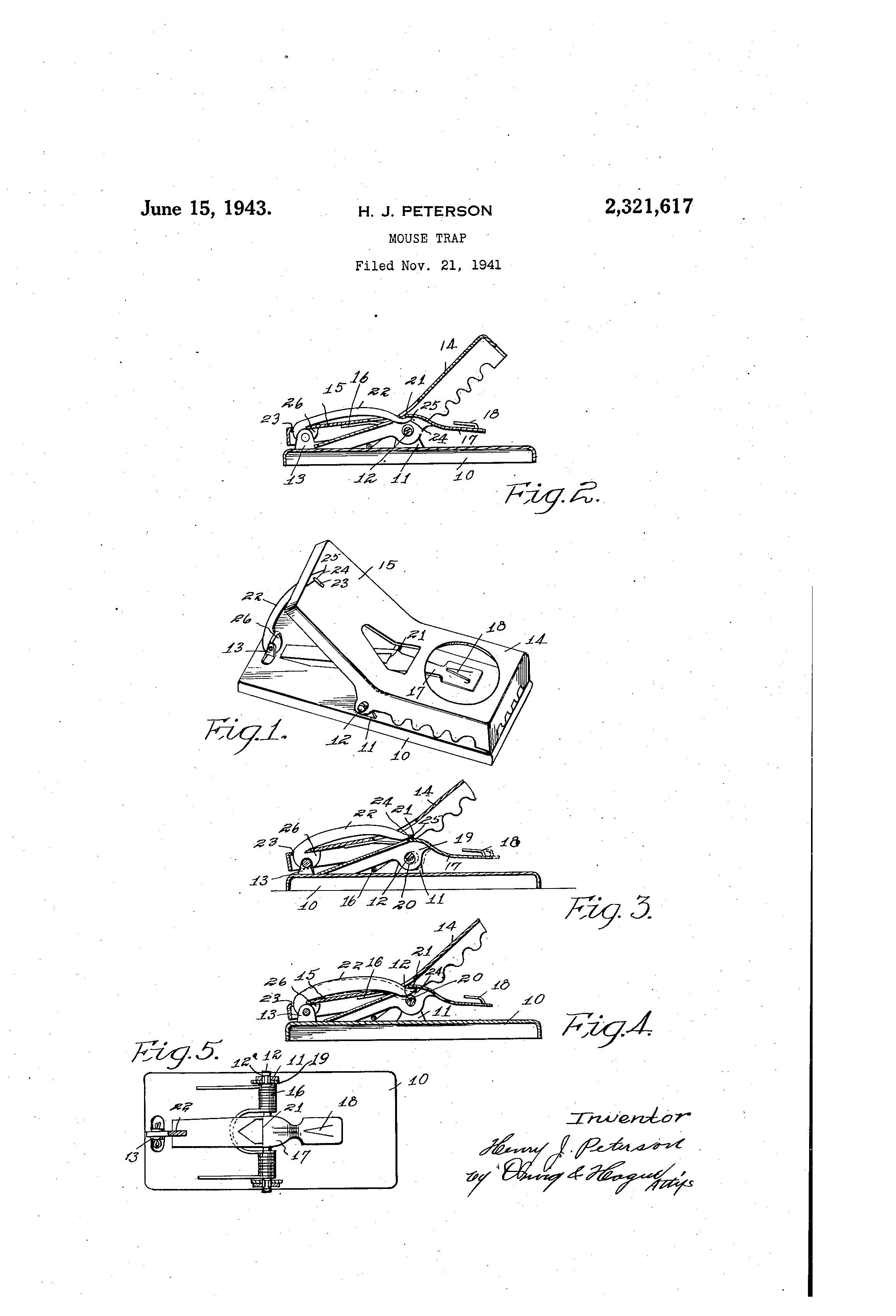 Patent Of The Day Mouse Trap Suiter Swantz