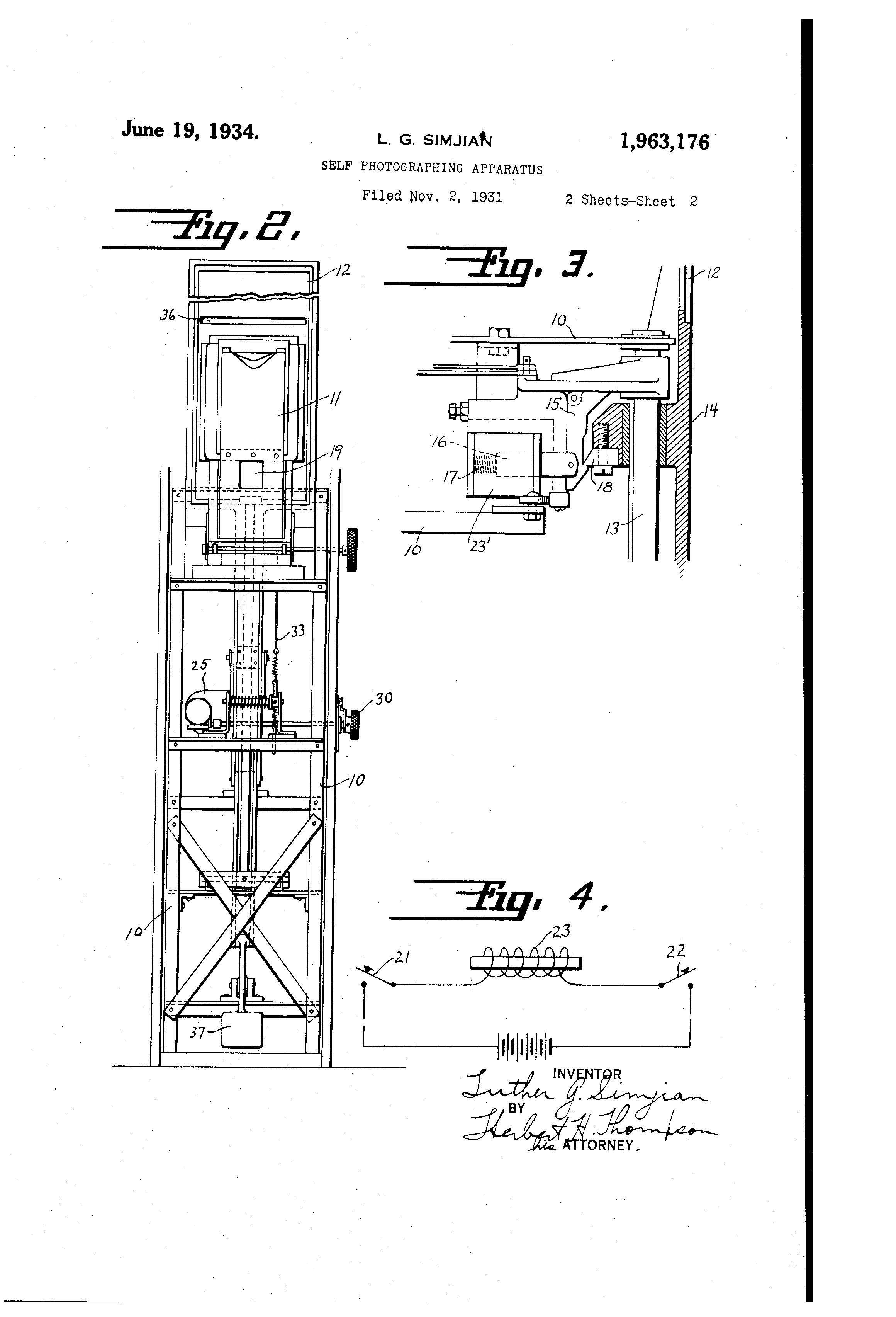 Patent Of The Day Self Photographing Apparatus