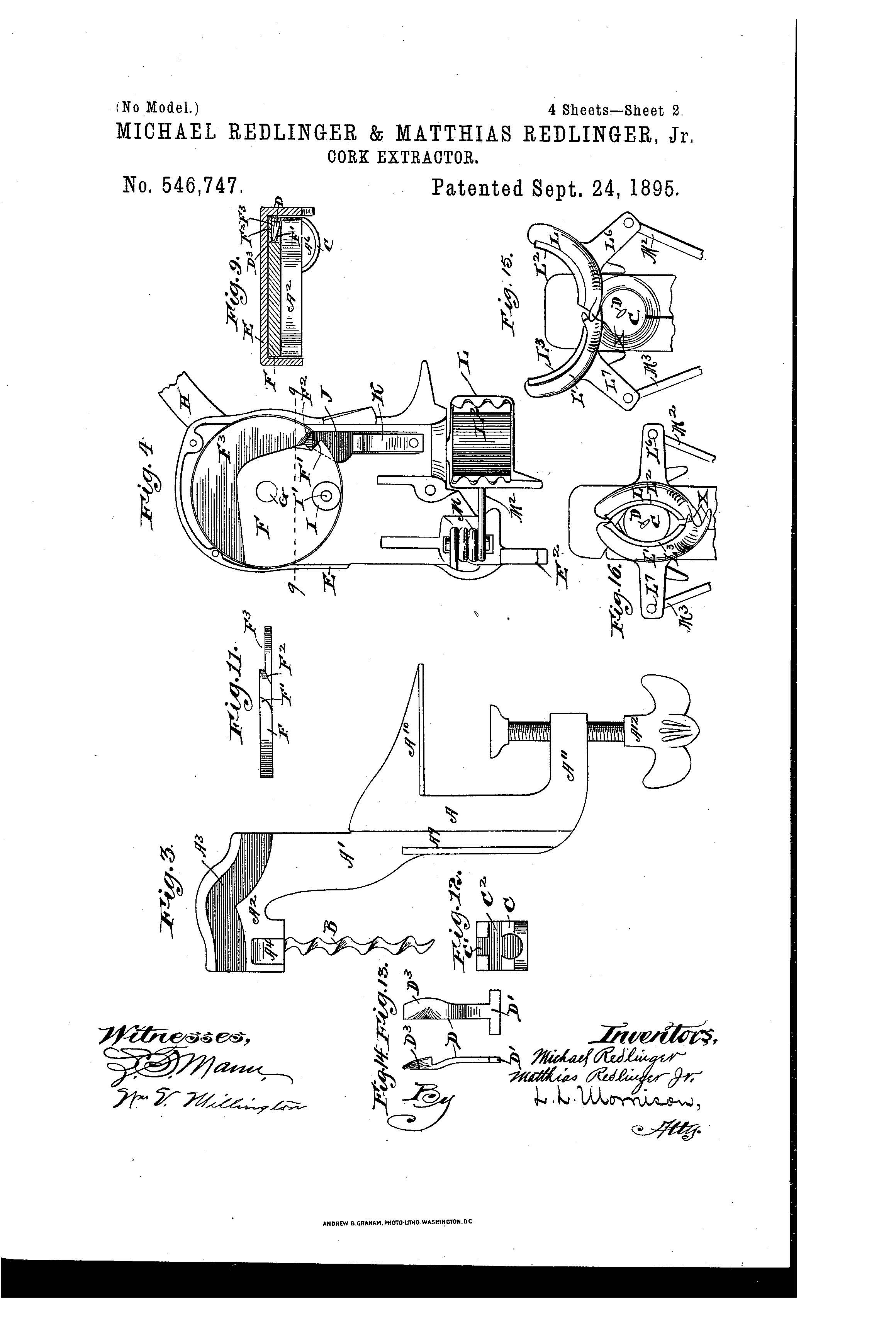 Patent Of The Day Cork Extractor
