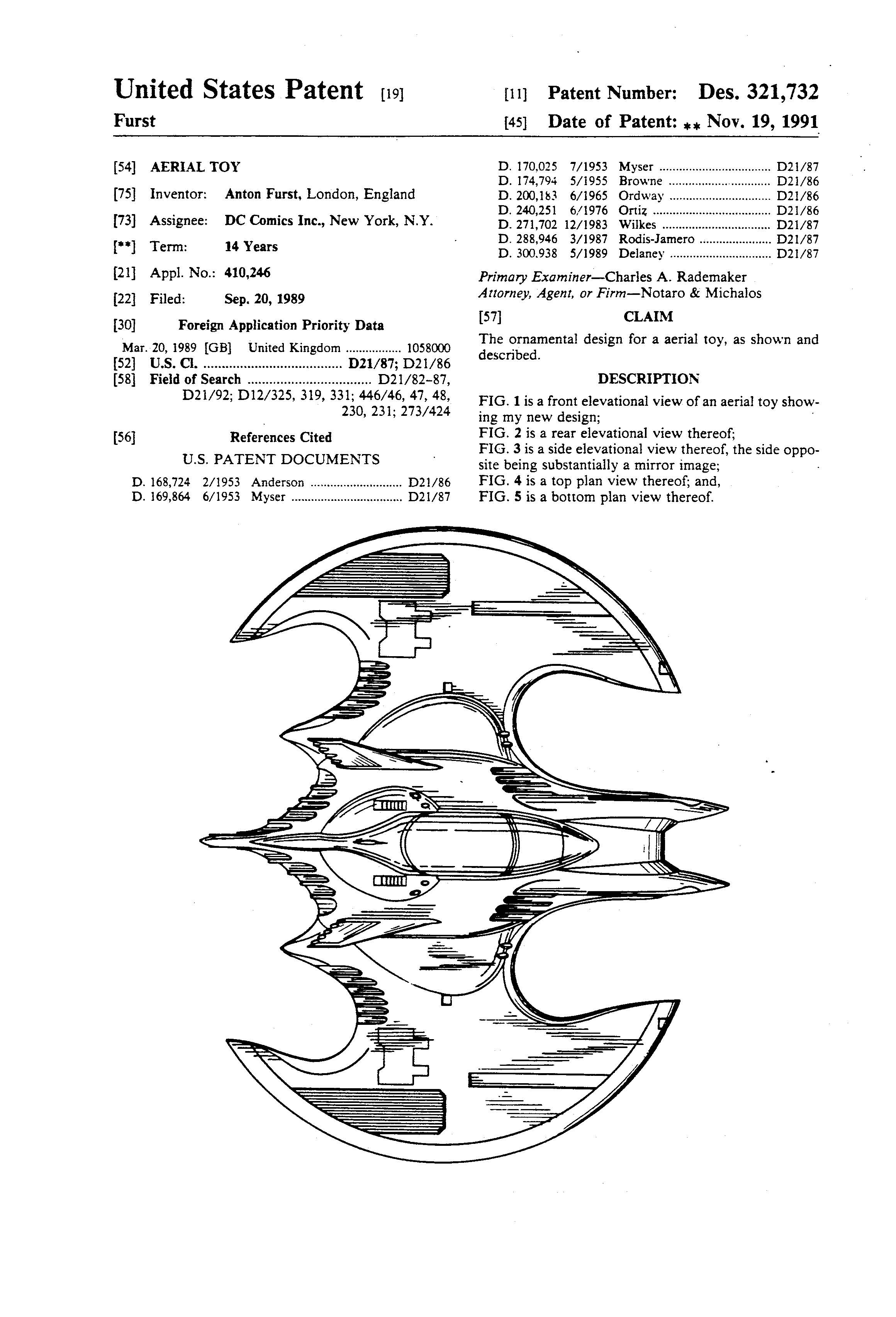 Patents Of The Day Vehicle And Aerial Toy Batmobile And
