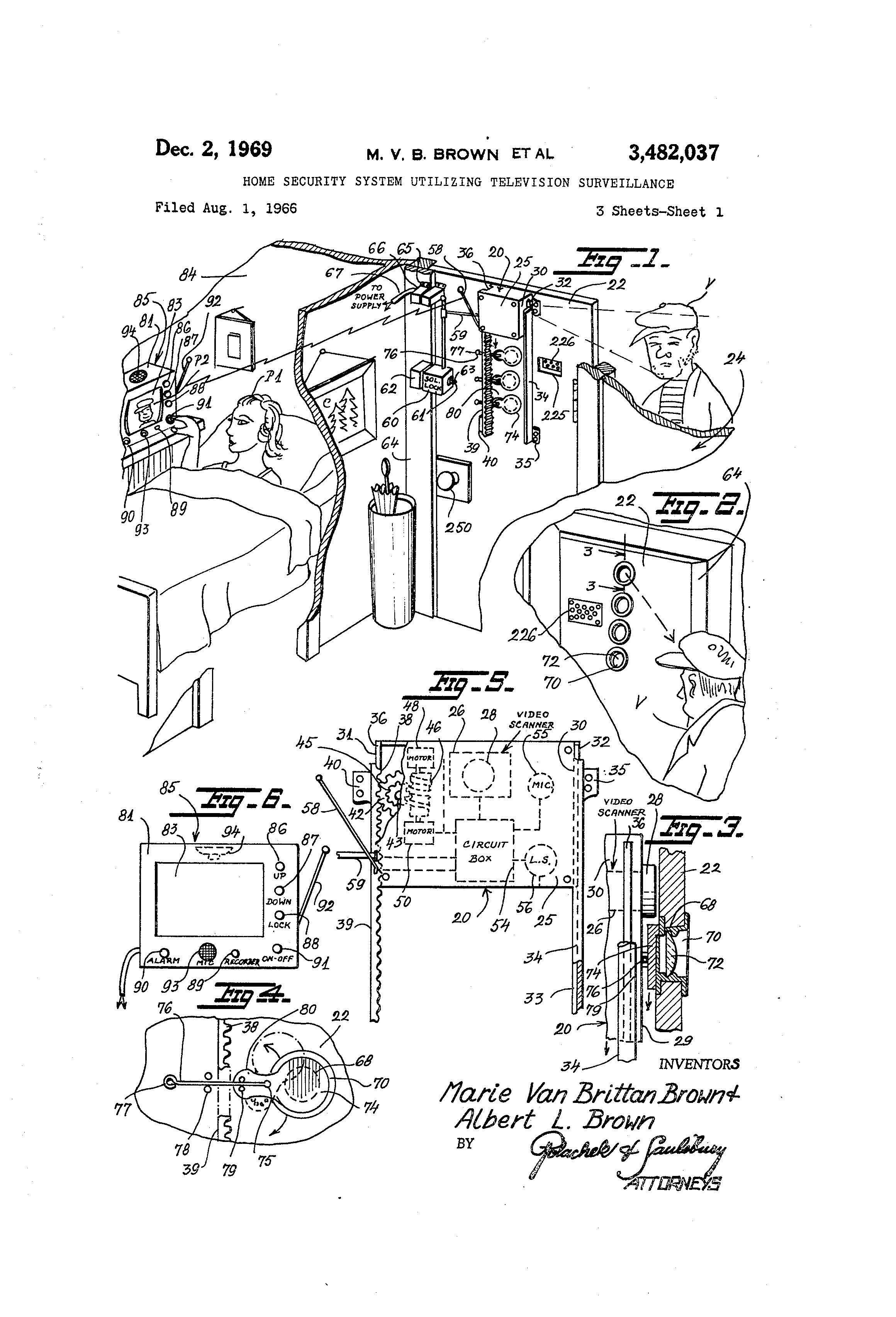 Patent Of The Day Home Security System Utilizing Television