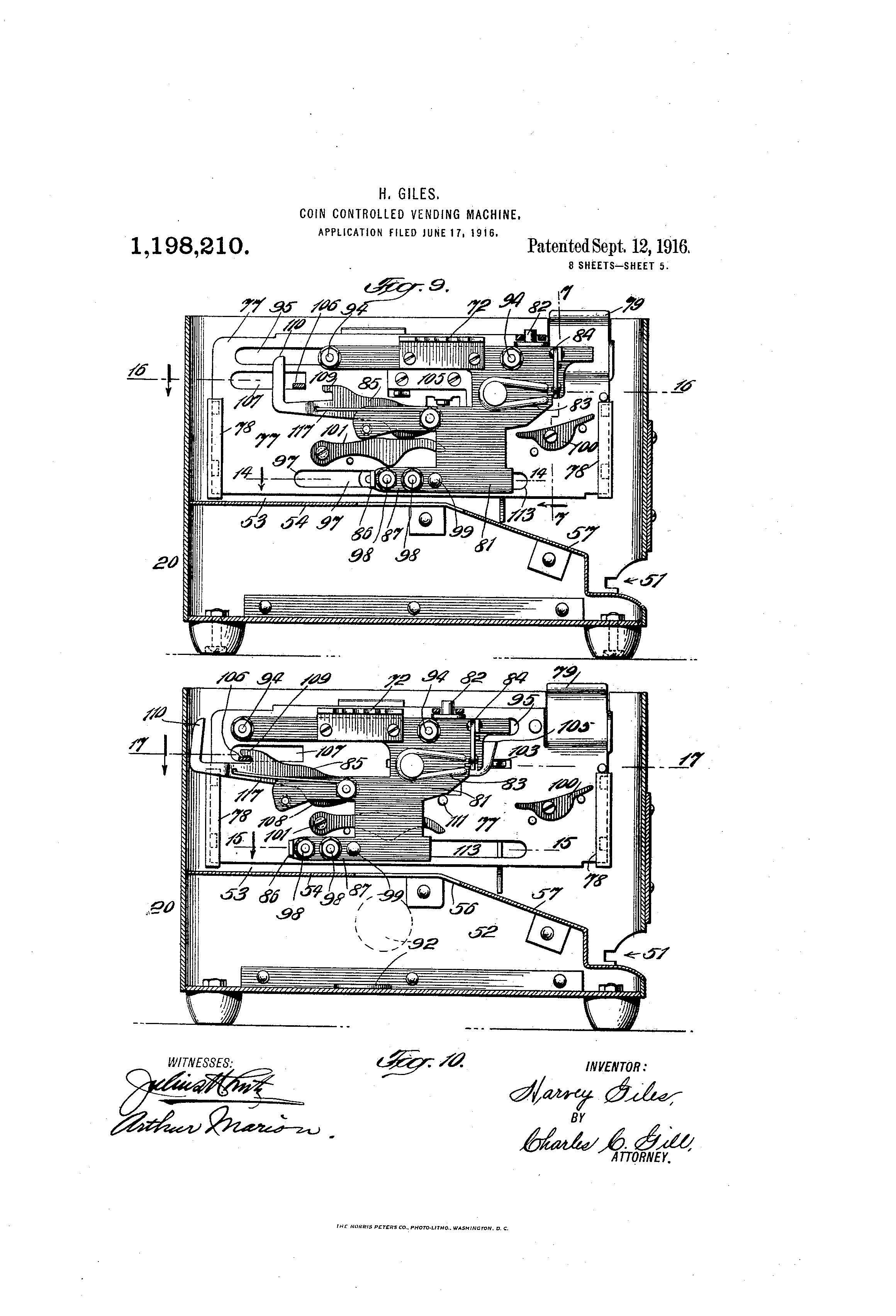 Patent Of The Day Coin Controlled Vending Machine