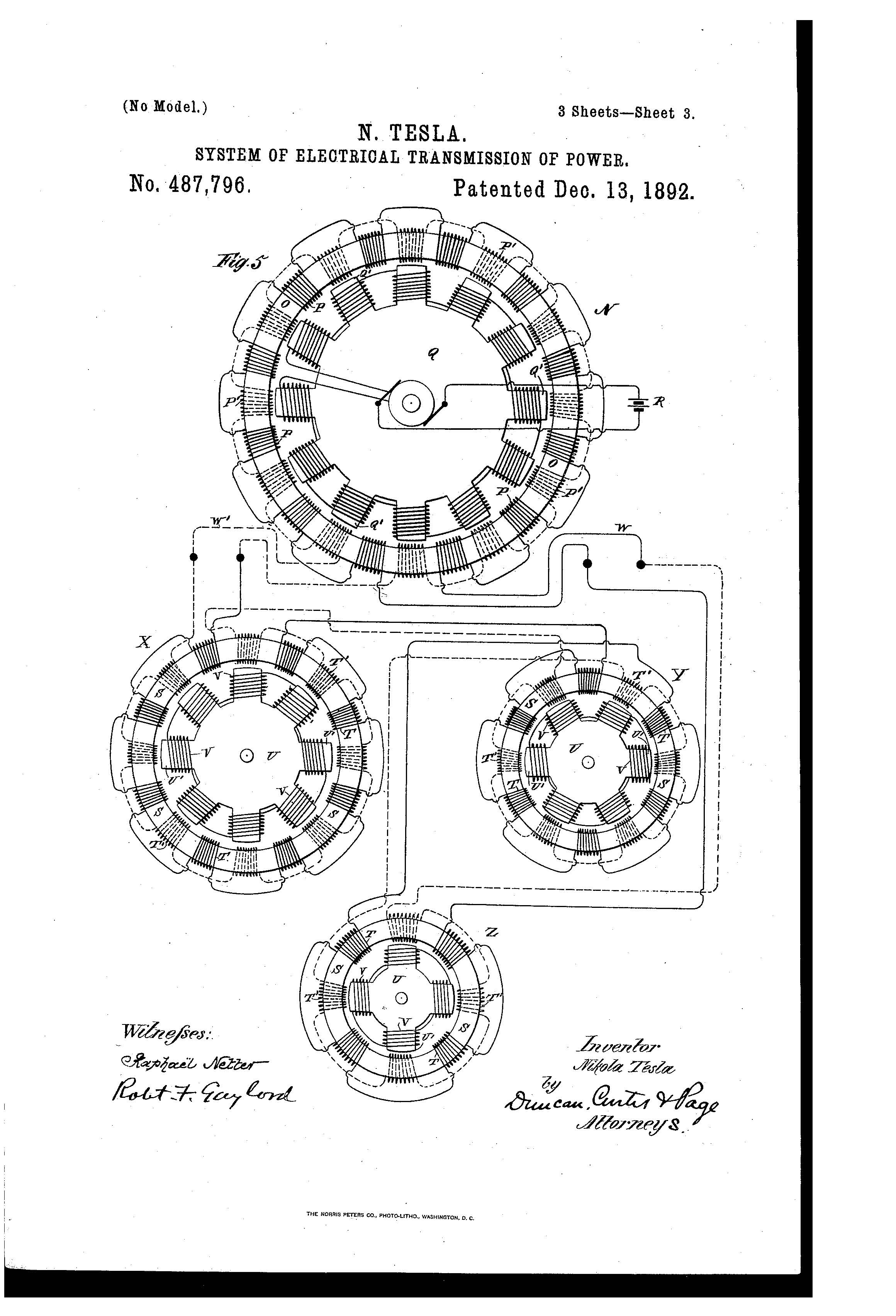 Patent Of The Day System Of Electrical Transmission Of