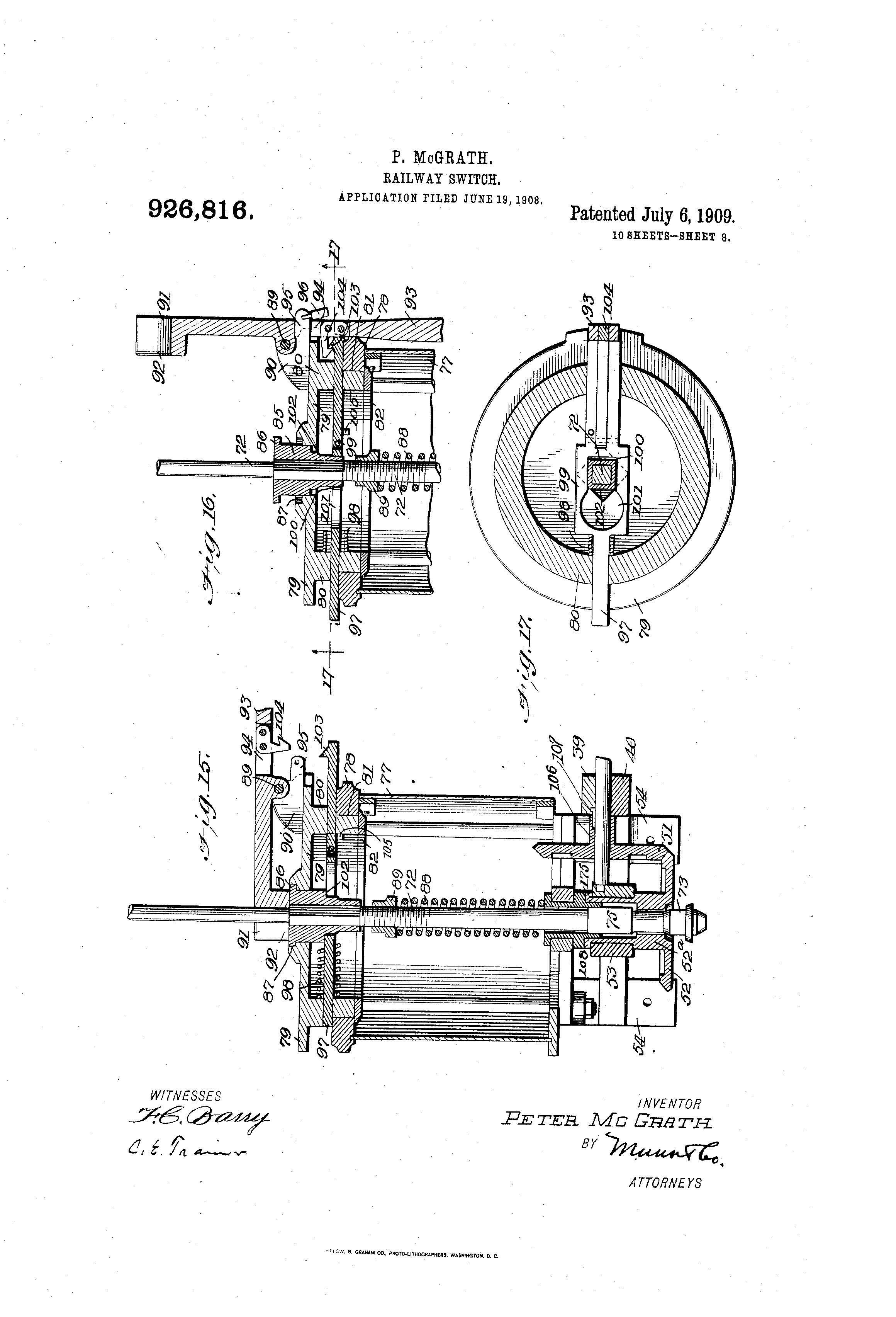 Patent Illustration Railway Switch Page 08