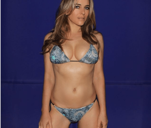 The Latest Photo Of Elizabeth Hurley Started As A Trio But Made Headlines