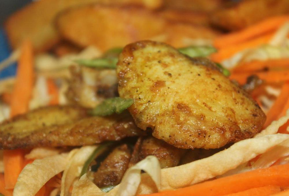pepper and green chilly fish fry