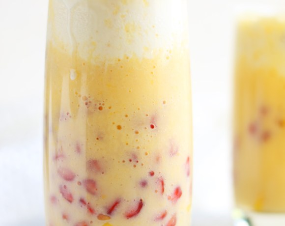 Mango Milk Shake with Vanilla Ice cream.