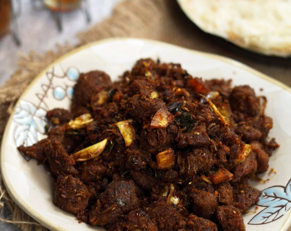 Beef Ularthiyathu or Kerala Beef fry